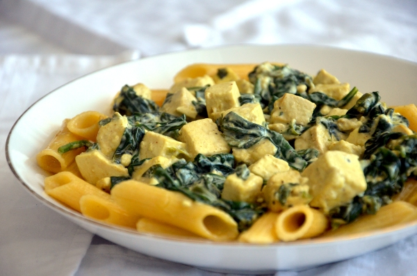 Tofu-pinaattipasta - Tofu and Spinach Pasta (Low FODMAP, Gluten-free, Vegan) / Sweets by Sini