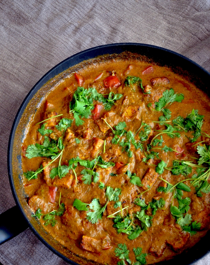 Intialainen tempecurry - Indian Tempe Curry (Glutenfree, Low FODMAP, Vegan)